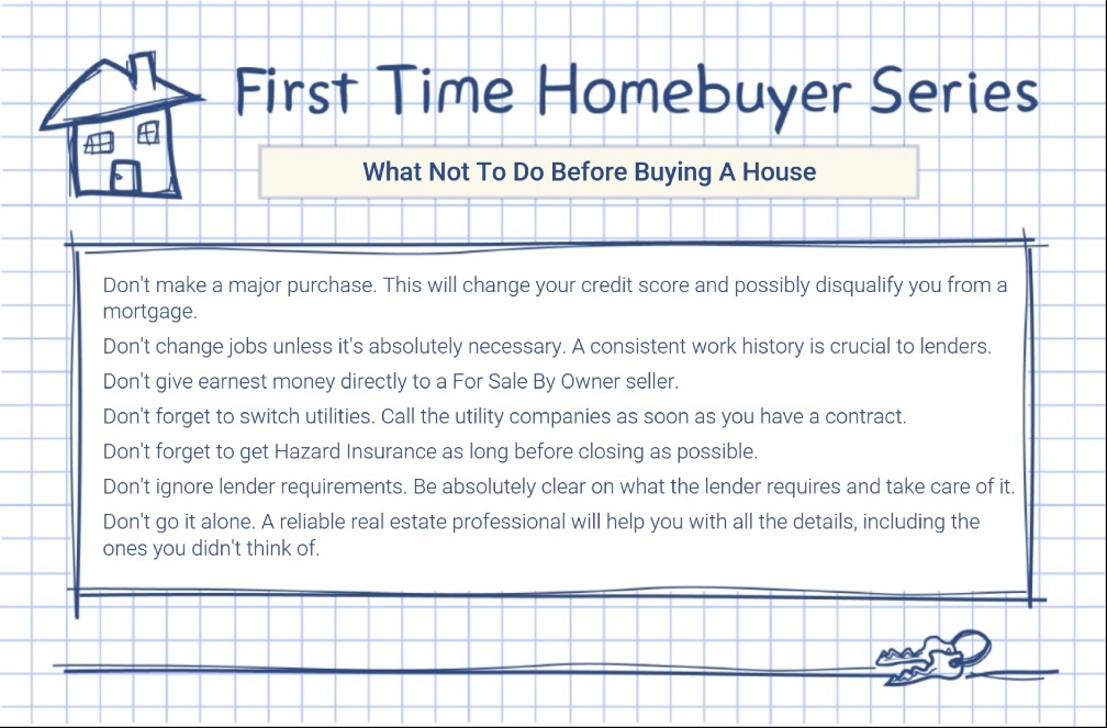What not to do before buying a house jennifer for What to do before buying a home